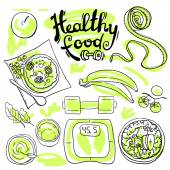 Healthy food — Vector de stock