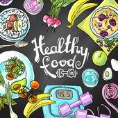 Здоровая еда — Cтоковый вектор