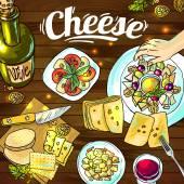 Cheese — Stock Vector