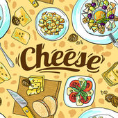 Cheese seamless pattern — Stock Vector