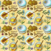 Honey pattern — Stock Vector
