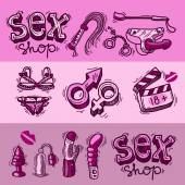 Sex shop — Stock Vector