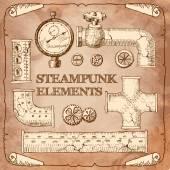 Industrial Victorian style grunge Steampunk design element switc — 图库矢量图片