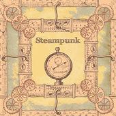 Steampunk frame — Stock Vector