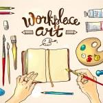Workplace art — Stock Vector #76263915
