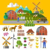 Eco farm — Stock Vector