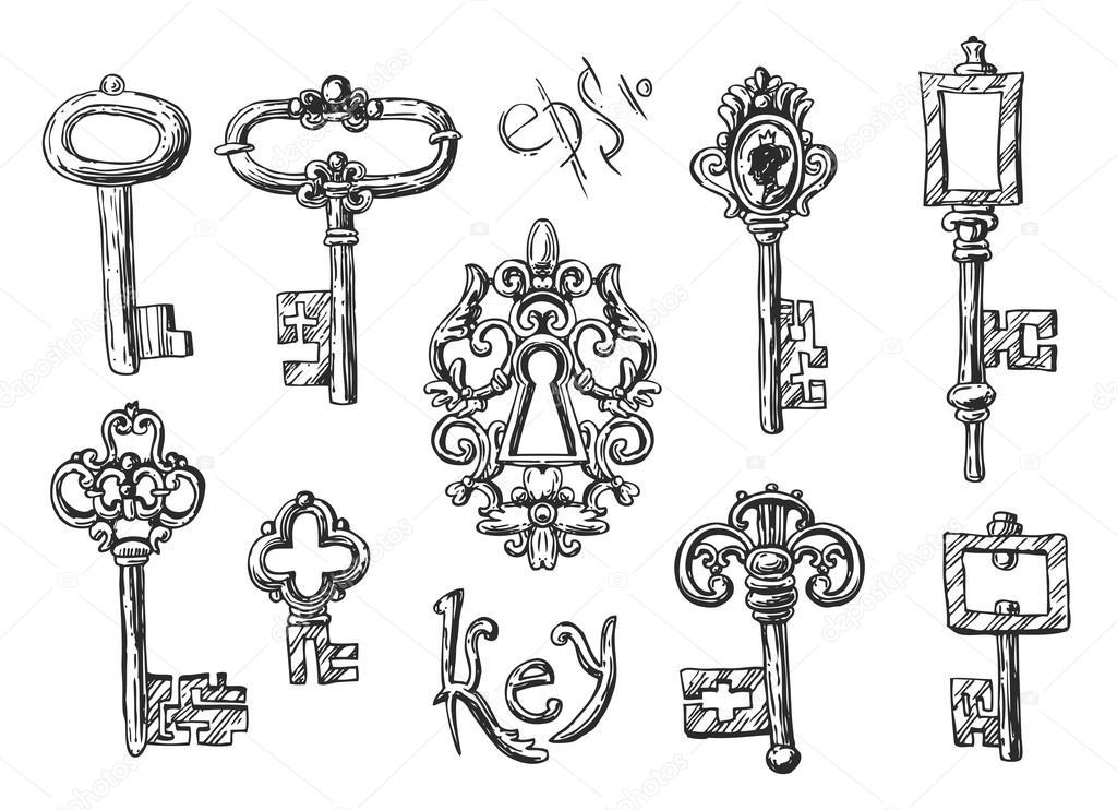 Vector Key Illustration: Stock Vector © Margarita_87 #95037612