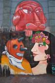 Murals of Barrio Yungay — Stock Photo