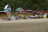 Fishing Boats on Chiloé island — Stockfoto