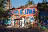 Murals of Santiago — Stock Photo