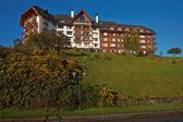 Hotel w południowym Chile, w Districy nad jeziorem — Zdjęcie stockowe