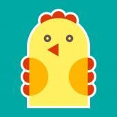 Chicken illustration — Stock Vector