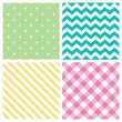 Seamless abstract pattern set — Stock Vector #65717469