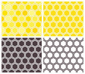 Honeycomb seamless pattern set — Stok Vektör