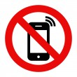 Постер, плакат: Mobile Phone prohibited