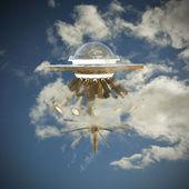 Ufo spaceship — Stock Photo