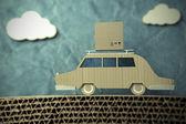Origami car — Stock Photo