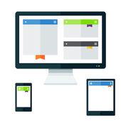 Tech devices set — Stockvektor