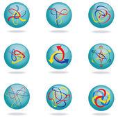 Abstract bubbles design set. — Stock Vector