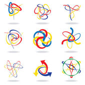 Abstract swirl design set — Stock Vector