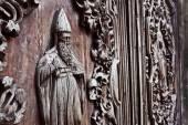 San agustin church door detail — Stock Photo