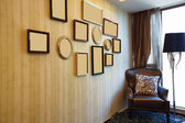 House interior with nice picture frame — Stok fotoğraf