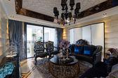 Sala de estar de luxo — Fotografia Stock