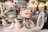 Wedding decorations and candy bar — Stock Photo