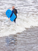 Senior surfing — Foto de Stock