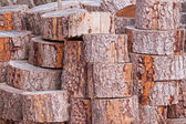 Wood piled — Stock Photo