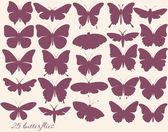 Vector set of butterflies silhouettes — Stock Vector