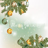 Christmas greeting card in elegant style — Stock Vector