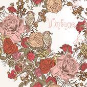ファッションの花と花の背景 — ストックベクタ