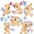 Collection of vector hand drawn cartoon bears for childish desig — Stock Vector #54331615