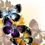 Векторный фон с бабочками — Cтоковый вектор #54334773