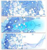 Chemistry backgrounds set — Stock Vector