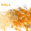 Abstract background with autumn trees — Stock Vector #55887931