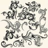 Collection of vector swirls for design — Stock Vector