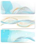 ビジネス カードのデザインのブルー抽象的なベクトルの背景の設定します。 — ストックベクタ