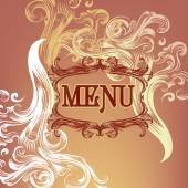Menu design with floral elements — Stock Vector