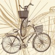 Abstract background with bicycle in vintage style — Stock Vector #58583375