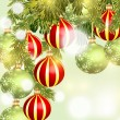 Christmas background with baubles — Stock Vector #59126327