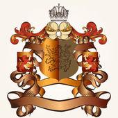 Heraldic design with coat of arms — Stock Vector