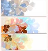 Conjunto de tarjetas con adornos futuristas — Vector de stock