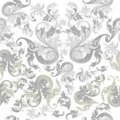 Floral seamless wallpaper pattern with vintage ornament — Stock Vector