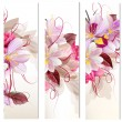 Set of three vertical floral banners for your design — Stock Vector #75880043