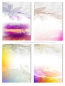 Vector Poster Templates with Watercolor Paint Splash — Stock Vector