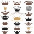 Vector set of crowns for your heraldic design — Stock Vector #82803456
