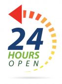 24 hours icon — Stock Photo