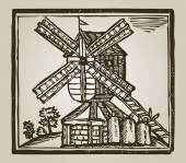Vintage windmill — Stock Photo